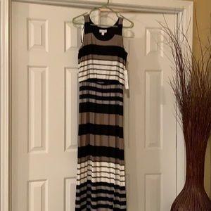 Striped long maxi dress